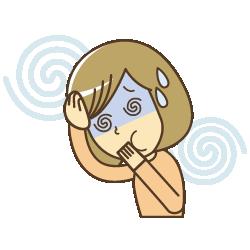 自律神経症状・めまいのイラスト